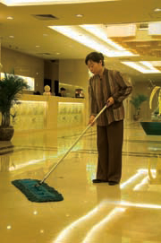 The lobby cleaning